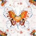 Stylized butterfly Stock Photos
