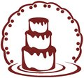 Stylized cake image representing a usable as logo label or other project about cakes Royalty Free Stock Photos