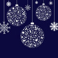 Stylized Christmas Balls. Vector Royalty Free Stock Photo