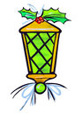 Stylized Christmas Lantern Stock Photos