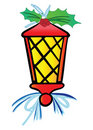 Stylized Christmas Lantern Stock Photo