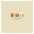 Stylized christmas and new year card with holiday gift boxes Royalty Free Stock Image