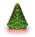 Stylized Christmas tree.  on white Royalty Free Stock Photo