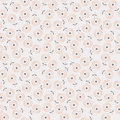 Stylized Circle Flower Seamless Background Pattern Stock Photo