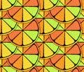 Stylized Citrus Pattern Royalty Free Stock Photo