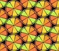 Stylized Citrus Seamless Pattern Royalty Free Stock Photo
