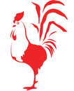 Stylized cock on the white background Stock Photography