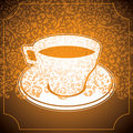 Stylized cup of coffee. Royalty Free Stock Photo