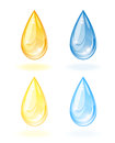 Stylized drop of oil and water illustration on white background Royalty Free Stock Images