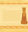 Stylized Egyptian cat Royalty Free Stock Photo