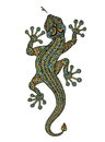 Stylized fantasy patterned lizard. Ethnic ornamented animal. Vector illustration