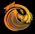 Stylized fire dragon