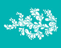Stylized flower drawing Royalty Free Stock Photography