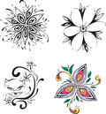 Stylized flowers Stock Photos