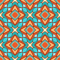Stylized flowers beautiful retro geometric pattern with red and blue Stock Photos