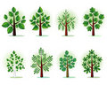 Stylized forest trees Royalty Free Stock Photography