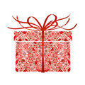 Stylized gift - Royalty Free Stock Photo