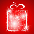 Stylized gift vector Royalty Free Stock Photo