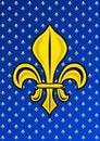 Stylized Golden Fleur de Lis Royalty Free Stock Photo