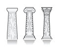 Stylized Greek columns Royalty Free Stock Photo
