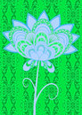 Stylized green flower Royalty Free Stock Images