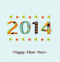 Stylized happy new year background celebration colorful Stock Photography