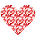 Stylized heart made from hearts Stock Photo