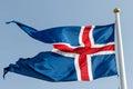 Stylized Icelandic flag Royalty Free Stock Photo