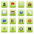 Stylized icons set 01 Stock Photo