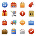 Stylized icons. Shopping. Stock Images