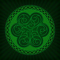 Stylized image of shamrock in outline style.