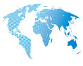 Stylized image of the world map Royalty Free Stock Photo