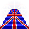 The stylized ladder flag of great britain on a light background Stock Images