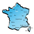 Stylized map of France Royalty Free Stock Image