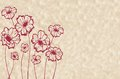 Stylized maroon flowers Stock Photos