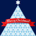 Stylized minimalistic christmas tree card illustration eps Royalty Free Stock Image