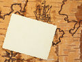 The stylized page on order ancient map with an empty place for your photo Royalty Free Stock Photo