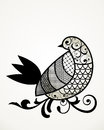 Stylized patterned bird limb Stock Images