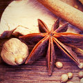 Stylized photo of cinnamon vintage Stock Image