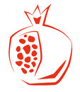 Stylized Pomegranate