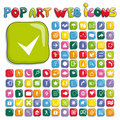 Stylized pop art web icon set Royalty Free Stock Photography
