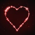 Stylized red irregular heart in style of star constellation vector illustration Stock Photo