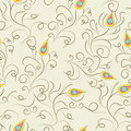 Stylized seamless pattern Royalty Free Stock Photos
