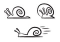 Stylized snails illustration on white Stock Photography
