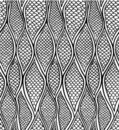 Stylized snake skin. Seamless pattern Royalty Free Stock Photos