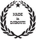 Stylized stamp Made in Djibouti
