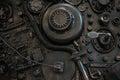 Stylized of a steampunk mechanical
