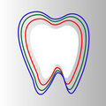 Stylized Tooth In Circle protection Isolated On gr Royalty Free Stock Photography