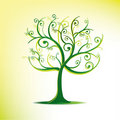 Stylized tree in swirls Stock Image