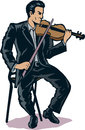 Stylized violinist illustration of a Royalty Free Stock Photography